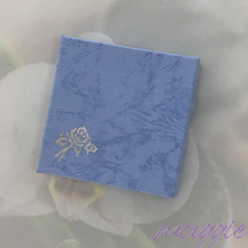 Škatlica iz kartona za zapestnico modra