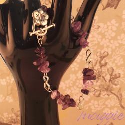Zapestnica Ametist roža